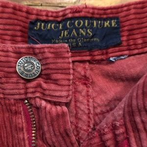 Juicy couture red corduroy wide leg bellbottom